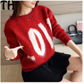 High Quality women winter Sweater Women Pullover love letter Knitted Sweater Top for Women Autumn Female Oversized Sweater SW006