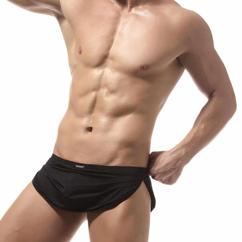 Nieuwe Mannen Sexy Badmode Badpakken Slips Strand Zwemmen Board Surf Wear Korte Gay Pouch Low Rise Zwemmen Mannen Swim Bikini