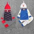 3 Шт./компл. Новорожденного Младенца Мальчики Девочки Олень Комплект Одежды футболки топы с длинными рукавами + Брюки + Шляпа детская Одежда набор SY207