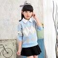 2017 Children's sweater Winter New   Children Clothing  Hedging Round collar Girls Cardigan Kids sweater  Girls  Warm sweater