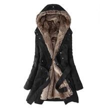 Winter Women Jacket Womens Casual Military Hooded Coat Fur Coat Basic Parkas Outwear