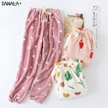 DANALA Autumn Winter Pajamas Home Pants Women Bottoms Fruit