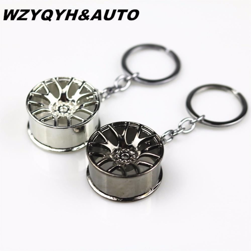Стайлинга Автомобилей Металлический Брелок Ключевые Кольцо Ступицы Колеса Для Ауди А4 В5 В6 В8 А6 А3 А5 В3 В5 В7 Е46 Е90 Е39 Е60 Е36 Е34 Е30 Ф30 Ф35