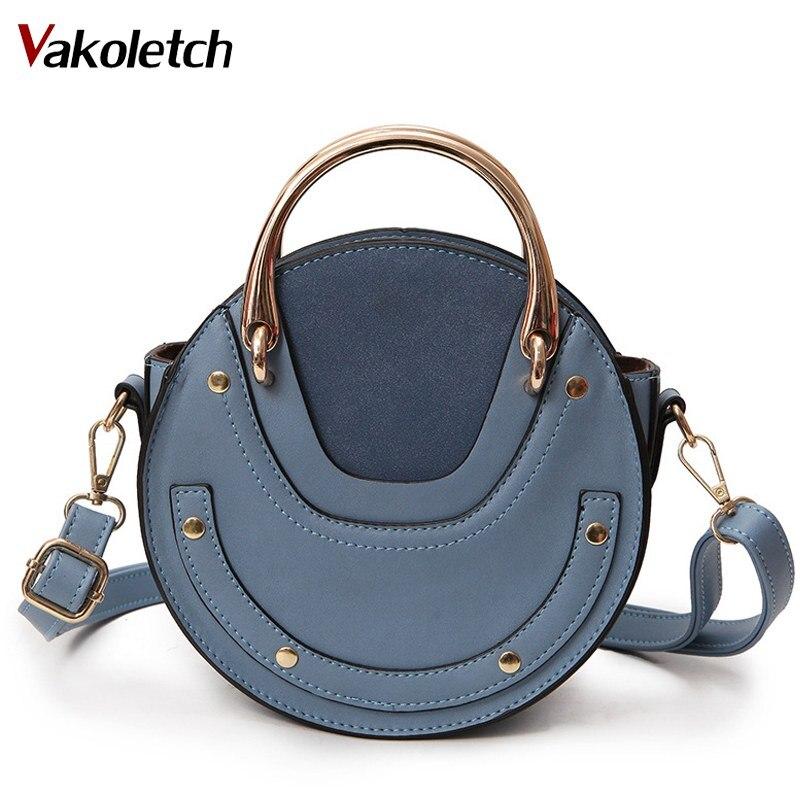 2019 New Fashion Mini PU Leather Handbag One Shoulder Cross-body Bag Small Round Package Women bag Messenger Bags KL152