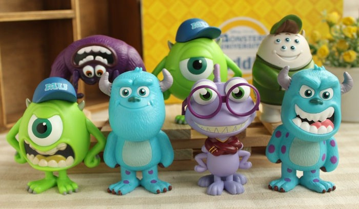 Anime Monsters University Mike Wazowski Sullivan Art Cute PVC Action Figure Collectible Model Toy 7cm 7pcs/set KT1378 anime yu gi oh duel monsters yami yugi pvc action figure collectible model doll toy 20cm free shipping