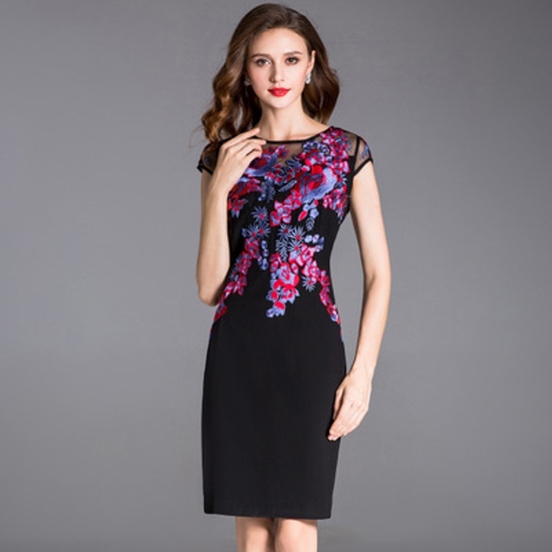sexy office women dress ladies 2018 new Superior quality Spring summer elegant Party Dress plus size