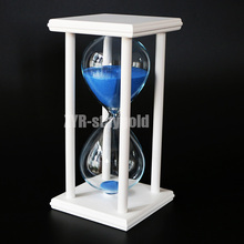 New 60 minutes sandglass timer hour glass timer high quality home decoration wood sand sand clock free shipping