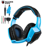 New Sades SA920 Stereo Gaming Headset For Laptop Tablet PS4 PC Gamer Mac XBOX 360 Cellphone