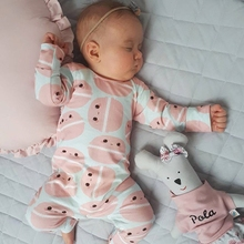 купить Baby Rompers Macaroon Print Cotton Boys onesie Newborn autumn Girls Clothes Infant Baby Clothing Long Sleeve newborn Jumpsuit по цене 741.82 рублей