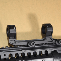 Tactical Gun AR15 Rifle Optic Scope Mount 25 4mm 30mm QD Rings Mount With Bubble Level