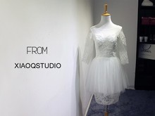bridal gown bride salomon free shipping romantic short lace wedding Dress 2014 vestido de noiva casamento new fashionable sexy
