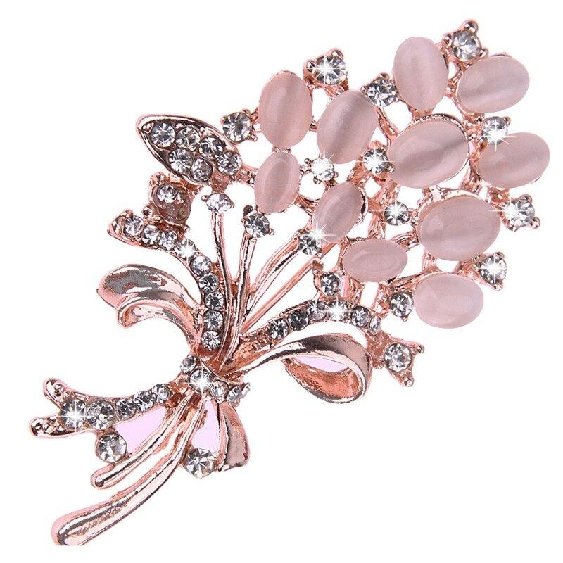 Лидер продаж модная опал каменный цветок Брошь Pin одежде подарок на день рождения