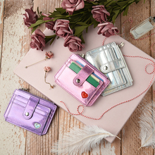 Fecilia Fashionable Card Holder RFID Wallet Cash Coin Keys Passport Storage Bag Women Ultra-light PU Purse with ID Slot