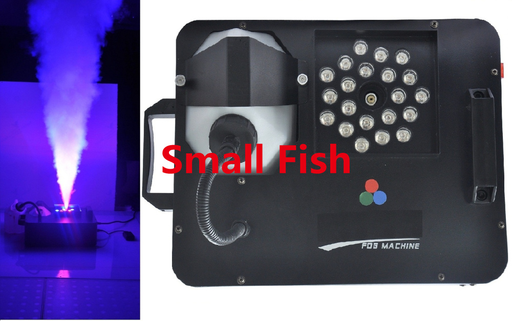 Free Shipping 2015 Smoke Machine 1500W Fog Hazer Machines with 21pcs 3W Leds DMX512 Across Vertical DJ Stage Lighting Equipment