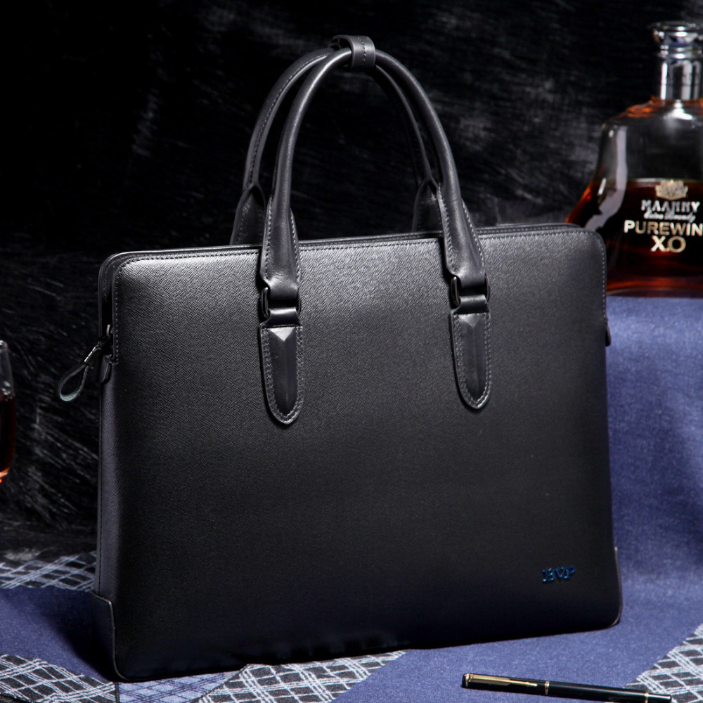 BVP Mens Real Genuine Leather Cowhide Business 14 Inch Laptop Case Briefcase Portfolio Tote Attache Black T1004 светильник на штанге eglo palmera 87222