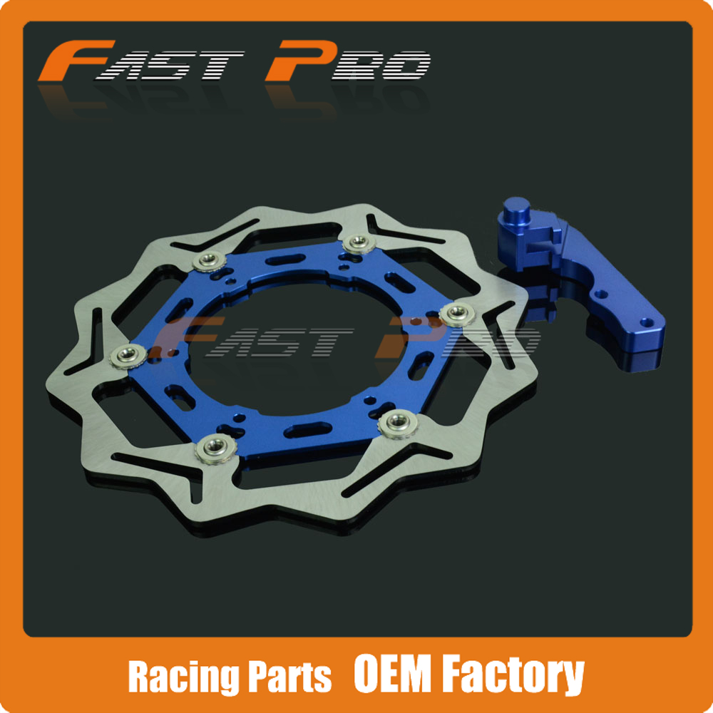 Oversize 270MM Front Floating Brake Disc & Caliper Bracket Adapter for YZ250F YZ450F YZ426F YZ400F WR426F WR400F YZF250 YZF450 keoghs real adelin 260mm floating brake disc high quality for yamaha scooter cygnus modify