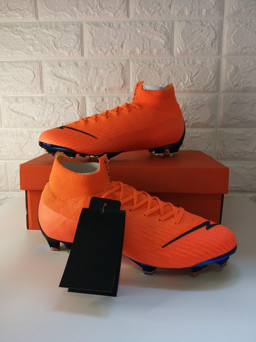 Hommes d'achat Pas Cher ZUSA Superfly VI Elite 360 FG Chaussures de Football En Plein Air Total Orange chaussures de Football Ventes