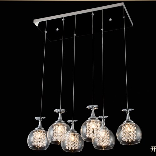 Wine Glass Ceiling Light NEW Modern 6 Lights Crystal Glass Clear Wineglass Lamp bedroom dining room FG784 modern 3 6 lights crystal glass clear wineglass wine glass ceiling light lamp bedroom dining room fixture gift ems ship