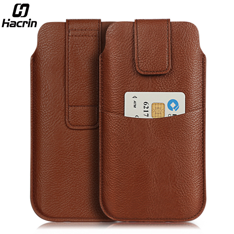 Doogee BL12000 Pro Case Cover Leather Wallet Card Slot Pouch Outdoor Sport Waist Bag For Doogee S30 X20 Essential Phone