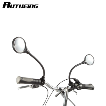 Górska droga motocykl motor rowerowa przedłużona lusterko wsteczne odblaskowe kierownica rowerowa lusterko wsteczne tanie i dobre opinie RUTVEING bike mirror bicycle mirror black 120g 7 5cm 35cm aluminum + plastic+abs