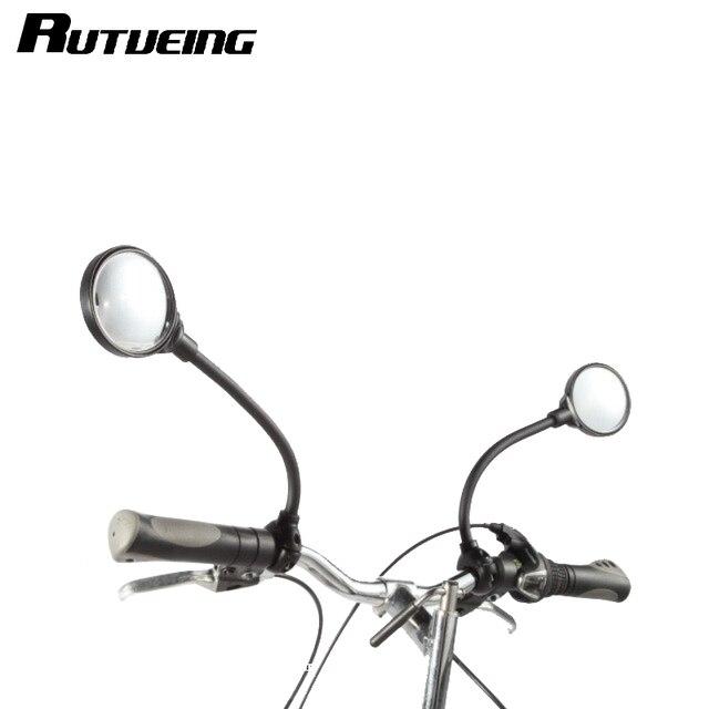RUTVEING Mountain Road motocicleta da Bicicleta da bicicleta Espelho Retrovisor Espelho Refletivo de Segurança Estendida ciclismo guiador Espelho Retrovisor