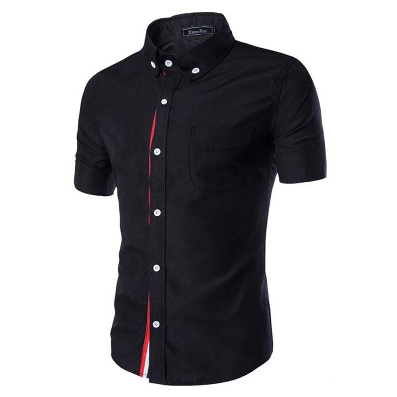 Buy men shirt designer brand 2018 male for Mens black dress shirts sale