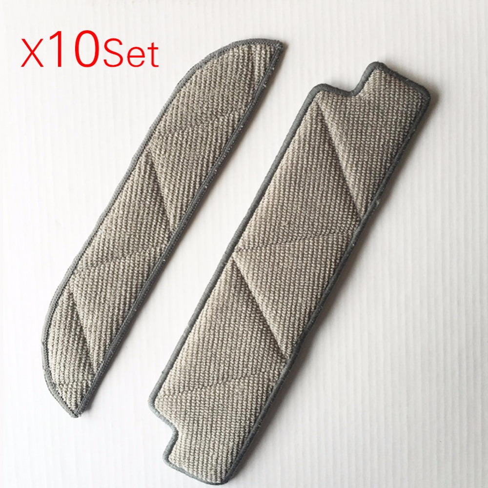 10set Mopping Cleaning cloth Dishcloth dishrag For Ecovacs Winbot W710 W730 TBW60TG TBW61 WRN60 WRN70 Replacement parts