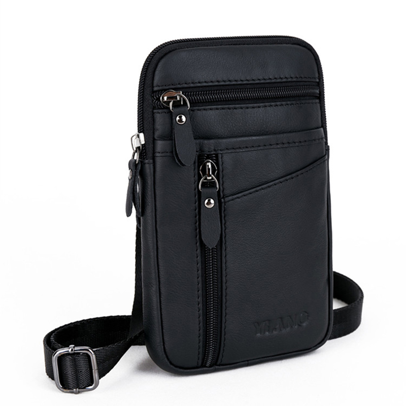 High Quality Real Cowhide Men Belt hook Waist Phone Cigarette Case Bag Casual Male Genuine Leather Wallet Crossbody Shoulder BagHigh Quality Real Cowhide Men Belt hook Waist Phone Cigarette Case Bag Casual Male Genuine Leather Wallet Crossbody Shoulder Bag