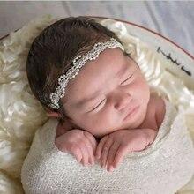 Новорожденный ребенок девочка жемчуг цветок повязка на голову волосы фотография реквизит аксессуары
