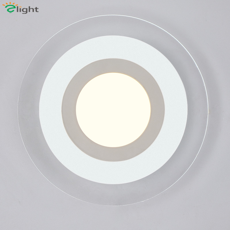 Modern Simple Round Dimmable Led Wall Lamp Lustre Acrylic Bedroom Led Wall Lights Corridor Led Wall Lighting Light Wall Fixtures modern simple acrylic ball led wall lamp lustre chrome metal bedroom led wall light wall lights porch corridor led wall lighting