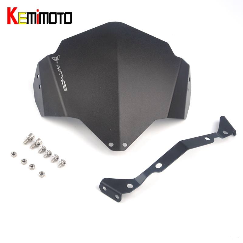 KEMiMOTO For Yamaha MT03 FZ-03 MT-25 MT-03 MT 03 MT25 MT03 2015 2016 Motorcycle Accessories Motorbike Windshield Windscreen for yamaha mt 03 2015 2016 mt 25 2015 2016 mobile phone navigation bracket page 1