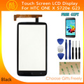 For HTC One X S720e G23 touch screen digitizer Front Panel Outer Glass Digitizer Replacement PartsFilm + Tools+Adhesive