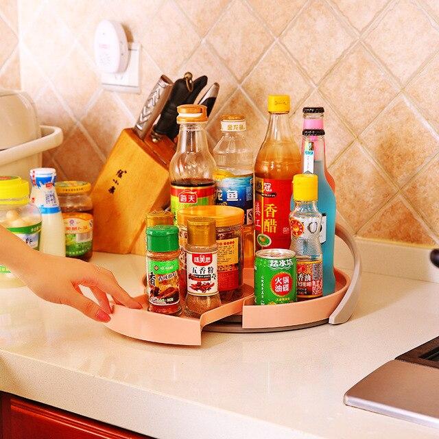 Round Zhiduke Non Skip Cabinet Turntable Lazy Susans 11 Inch Kitchen Spice  Rack Beverage Organizer