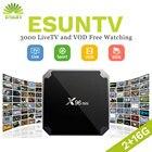 IPTV ESUNTV Android tv box X96 Mini Europe IPTV UK SPAIN ITALY Germany Sweden Albania XXX Vod X96MINI Media player set top box