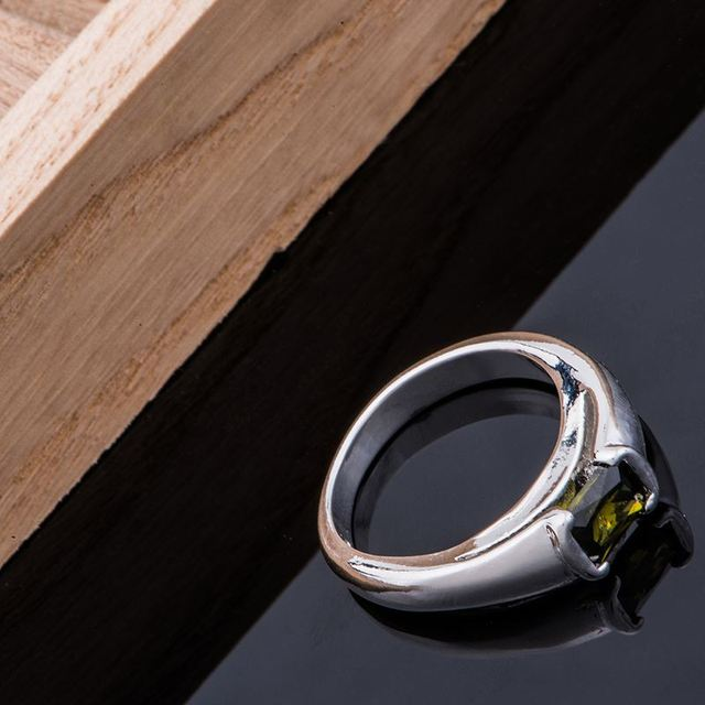 shiny black rounded Wholesale silver plated ring 925 Fashion jewelry Silver Ring 925sterling-silver OXTOHZCB