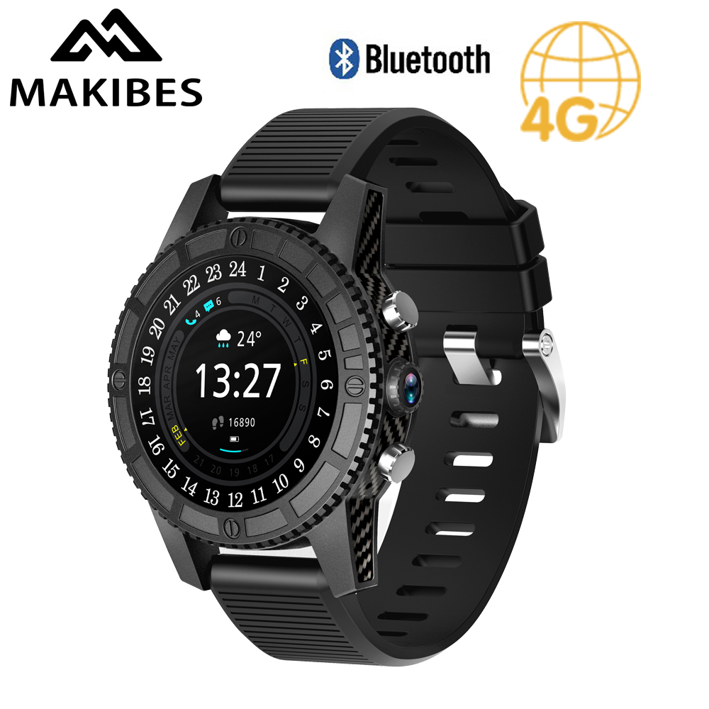 Makibes MK01 Smartwatch Men 4G SIM Card GPS WiFi Bluetooth 4.0 Heart Rate Monitor 1.54 Touch Screen 1G+16G Android Smart Watch