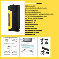 Free Shipping Mini Portable Car Jump Starter Multi Function Diesel Power Bank Battery 68800m 12V Car