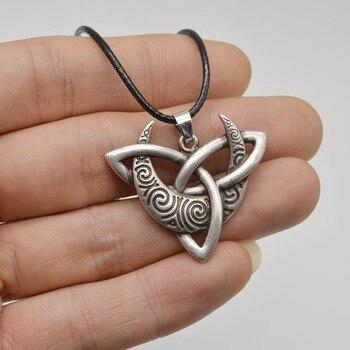 1 шт., ожерелье для кельтиков, треугольная подвеска с Луной, треугольное племя, украшения, готический языческий кулон CT632