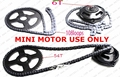 Mini Moto 47cc 49cc Drive System T8F 108 links loops Chain with Gear Box And Rear Sprocket 6T Fit Mini Pocket Bike Free Ship