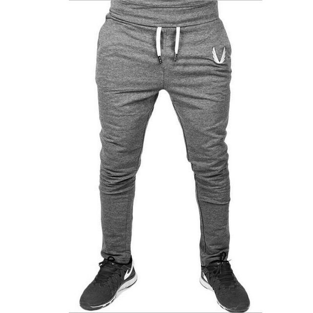 Men Jogger Pants Jogging Slim Fit Sport Gym Workout Sweatpants Basic Trousers