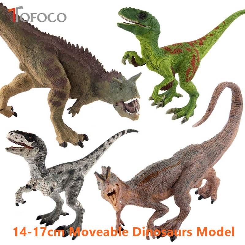TOFOCO 2017 Promotion 17cm Plastic Animals Dinosaurs Model Stuffed Toys Unisex Solid Large Raptor Anime Toy For Kids