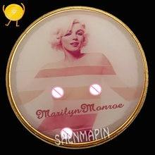 Marilyn monroe moeda comemorativa sexy marilyn monroe sorriso moedas colecionáveis americano norma jeane baker arte moedas de ouro presente