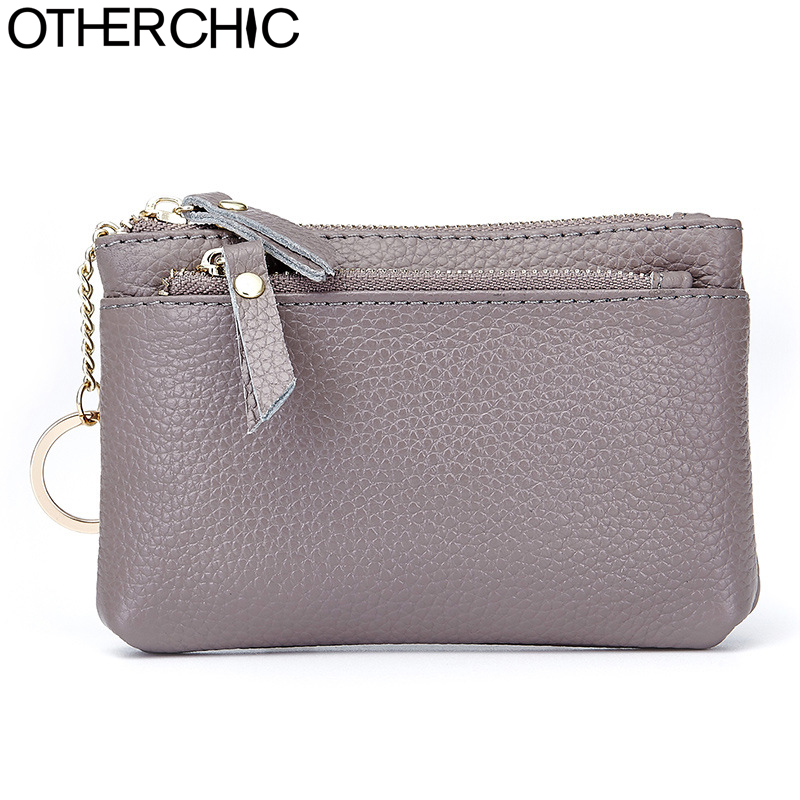 OTHERCHIC Quality Women Small Coin Purses Genuine Leather Change Key Wallet Wallets Woman Mini Change Purse Keychain 7N01-04