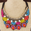 Bohemian Multicolor Beads Large Necklaces & Pendants Statement Necklace Women Collares Ethnic Jewelry For Personalised Gifts
