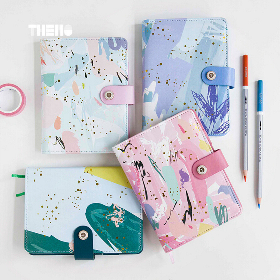 A6 Cute Gilding+print new renewable leather travel notebook,fine portable traveler journal diary planner notebooks stationery bim integrated renewable energy analysis