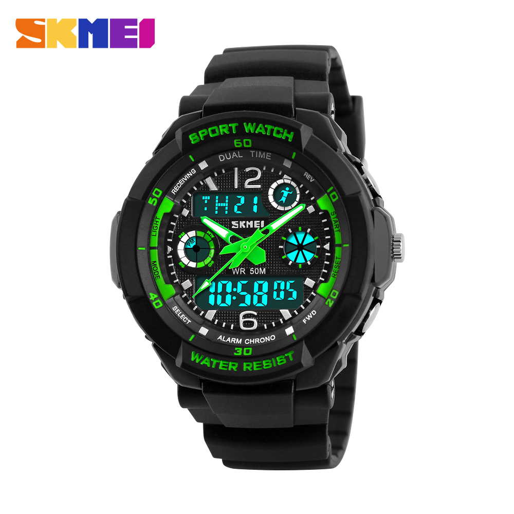 2019 New Children's Clock  Watches Kids Sport Watches Top Brand Double EL Light Water Resistant Wrist Watch Boys Time Chrono