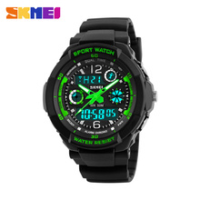 2019 New Children's Clock  Watches Kids Sport Top Brand Double EL Light Water Resistant Wrist Watch Boys Time Chrono