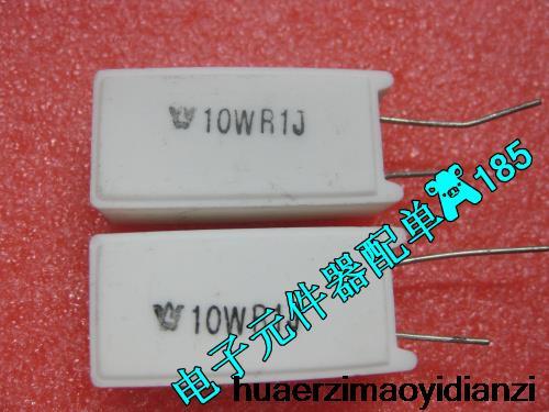 10PCS into vertical cement resistor RX27 5 10wr1j 10wR 1J 0 1R 5 new