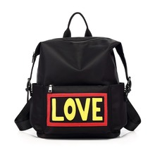 Новый дьявол глаза серии Модные нейлон школьный для подростков институт ветер рюкзак Love печати американский Стиль женские рюкзаки