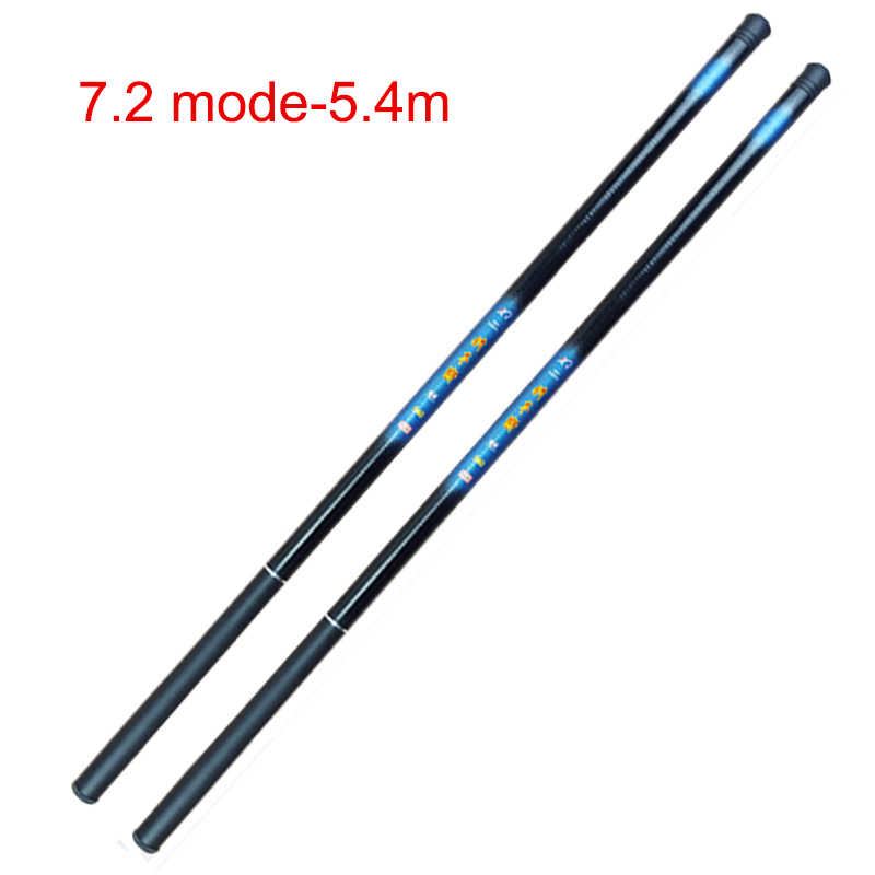 Newly Thread FRP Fishing Rod Telescopic Ultralight Hard Fishing Pole for Stream Freshwater Comfortable Durable Lightweight